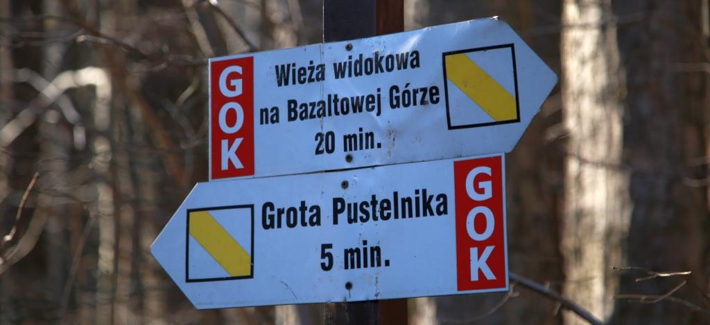 nickt.pl jawor lipa gora bazaltowa punkt widokowy kamieniolom  drogowskazy
