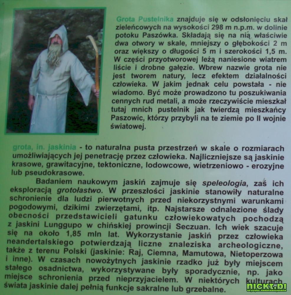 nickt.pl paszowice jawor grota pustelnika pustelnik jaskinia 12