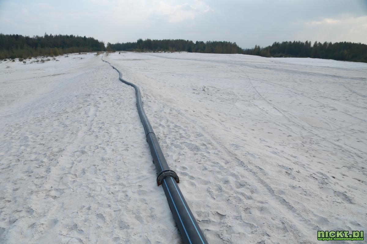 nickt_pl nowogrodziec zebrzydowa czerna halda kopalnia surmin kaolin wyrobisko jezioro staw woda bialy piasek 002