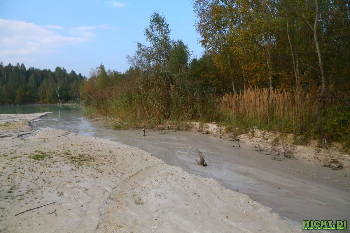 nickt_pl nowogrodziec zebrzydowa czerna halda kopalnia surmin kaolin wyrobisko jezioro staw woda bialy piasek 009